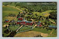 Topton PA Aerial View Lutheran Orphan's Home Complex Linen Pennsylvania Postcard