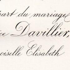 Maurice Davillier 1883 Banquier Régent Banque De France