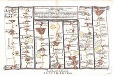 Antique map, The Road from London to Bath & Wells plate 035