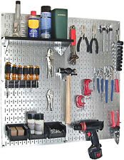 Metal Peg Board Galvanized Steel Tools Holder Garage Organizer Wall Rack 2 Pack