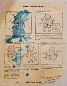 Vintage Eldon Billy Blastoff Toy Original Instructions