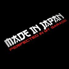 Hecho En Japón perfeccionado en mi garaje coche decal sticker Drift JDM Euro Japón bajo