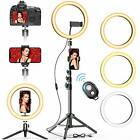 """10"""" Selfie Ring Light with 2 Tripod Stand & 2 Phone Holders, GPEESTRAC"""