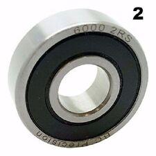 6000-2RS Sealed Bearings 10x26x8 Ball Bearings / Pre-Lubricated (Pack of 2)