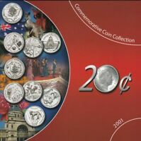 2001 20c COMMEMORATIVE 9 Coin Collection