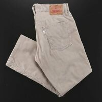LEVI'S 514 Beige Corduroy Slim Straight Pants Mens W32 L27