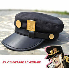 Anime JoJo's Bizarre Adventure Jotaro Kujo ver./Joseph Ver. Cap Hat+Badge Cool