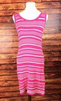 Banana Republic Women's Pink & White Striped Sleeveless Knit Dress Size S