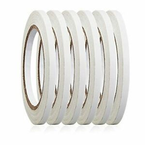"""6 Rolls 1/4"""" x 22.9 Yards Double-Sided Adhesive Tape For Arts, Crafts, Photograp"""