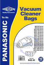 Pack of 10 PANASONIC Vacuum Cleaner Bags C-2E TYPE - MCE960 & MC970 Series