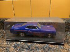 Blue Showdown Racecar Funny Car 1:25 Model Kit Adult Pro Buit Display Case