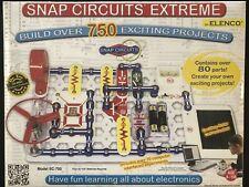 Elenco Electronics Snap Circuits Extreme 750 Experiments Kit (SC750) with AC Kit