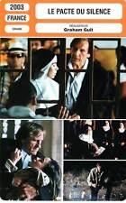 FICHE CINEMA : LE PACTE DU SILENCE - Depardieu,Bouchez,Maura,Guit 2003