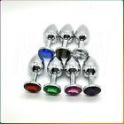 Big Plug Butt Random Color Metal style rosebud Toys Stainless Steel Crystal Larg