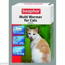 Beaphar Cat Wormer Multi Wormer Cat Worming Tablets Roundworms Tape worm