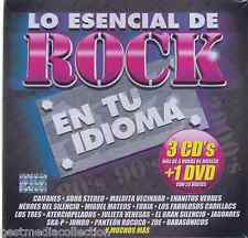 NUEVO - Lo Esencial De Rock En Tu Idioma CD NEW 3 CD's + 1 DVD Brand New SEALED