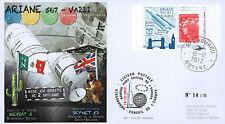 """VA211LT1 FDC KOUROU """"ARIANE 5 Rocket - Flight 211 / SKYNET 5D & MEXSAT-3"""" 2012"""