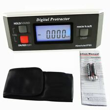 Electronic Digital Protractor V-Groove Base Machine Automotive Tool w/ Magnets