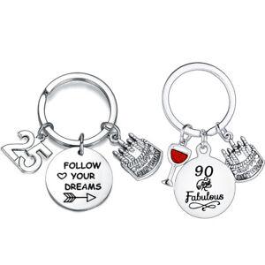 Birthday Gifts For Women Girls Kids Jewellery Keyring Inspirational Keychain