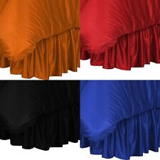 SOLID COLOR POLYESTER MESH JERSEY BEDSKIRT - Sports Bed Room Dust Ruffle Bedding