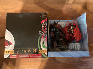 """Spawn I & V Double Statue Set! 10"""" Inch! Boxed Great Condition! Todd McFarlane"""