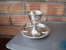 Silver Plated Egg Cup with attached underplate c1901 G.E.H Birmingham