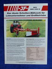 JF Scheiben-Mähwerk GMS 3200 D - Prospekt Brochure  (0732