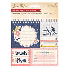 Grace Taylor moderna cabina Pegatina aquí para tarjetas y manualidades