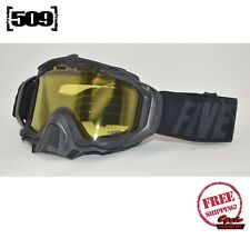 509 SINISTER X5 SNOWMOBILE GOGGLE BLACK WITH YELLOW TINT LENS SKI SNOW NEW 2019