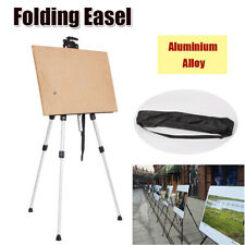 Folding Tripod Display Easel Drawing Board Poster Stand Adjustable White w/ Bag