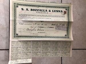 Certificato Azionario Lanificio