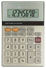 Sharp 8 Digit Calculator EL-330ERB Tax & Exchange Black Home School offices
