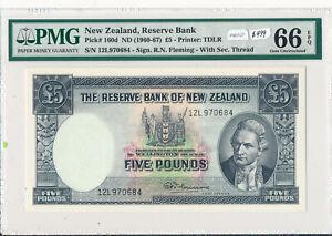 New Zealand 1960 ~7 5 Pound PMG GEM UNCIRCULATED 66 EPQ PM0127 pick# 160d combin