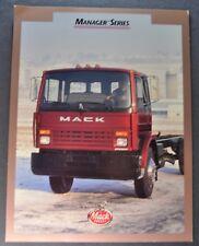 1992 Mack Truck Manager Series Sales Brochure Sheet Excellent Original 92