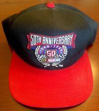 Nascar Racing 50th Anniversary Checkered Flag Sports snapback ball cap Red/black