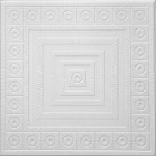 Styrofoam Ceiling Tile - Easy Glue Up Ceiling decor 48 panels ~130 sq.ft. #RM-03