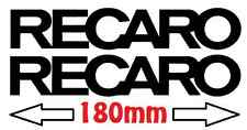 2 stickers RECARO decal autocollant auto baquet equerre 180mm