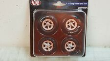 ACME 1:18 DRAG WHEEL AND TIRE SET FROM YANKEE PEDDLER - A1806502W