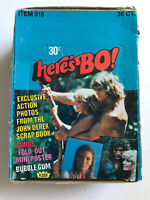 1981 Fleer HERE'S BO Trading Cards Photo & Poster Wax Box 36 Packs Bo Derek