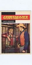 Topps 1958 Western TV Card #13, Gunsmoke, Happy Prisoner vintage non-sports card