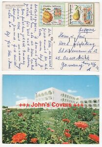 1972 TUNISIA Cover NABEUL to OSNABRÜCK GERMANY Hotel Les Narcisses POSTCARD