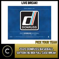 2020 DONRUSS BASEBALL 16 BOX (FULL CASE) BREAK #A739 - PICK YOUR TEAM