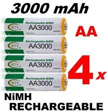4 Piles rechargeables AA Ni-MH 3000 mAh 1.2V LR06 Mignon DIRECT de France