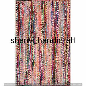 Multi Color Braided Rug 2x3 Feet Rug Home Decor Rectangle Floor Carpet Area Rug