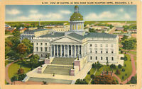 Postcard View Of Capitol As Seen From Wade Hampton Hotel, Columbia, SC