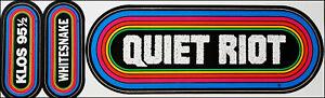 Quiet Riot Whitesnake Vintage Original 80's KLOS Radio Rainbow Bumper Stickers