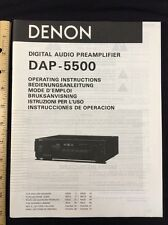 Denon DAP-5500 Preamp Original Owners Manual 14 English Pages, total page 74