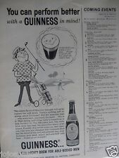 1961 Guinness Beer Golf-Original Print Ad-1/2 Page 8.5 x 11""
