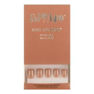 RED ASPEN Reusable Nail Dashes SHINY LATTE Short Square Glue Kit Mani 24 Nails