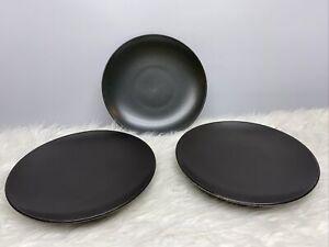 Pottery Barn Mason Salad Plate Charcoal Lot Of (3) NEW